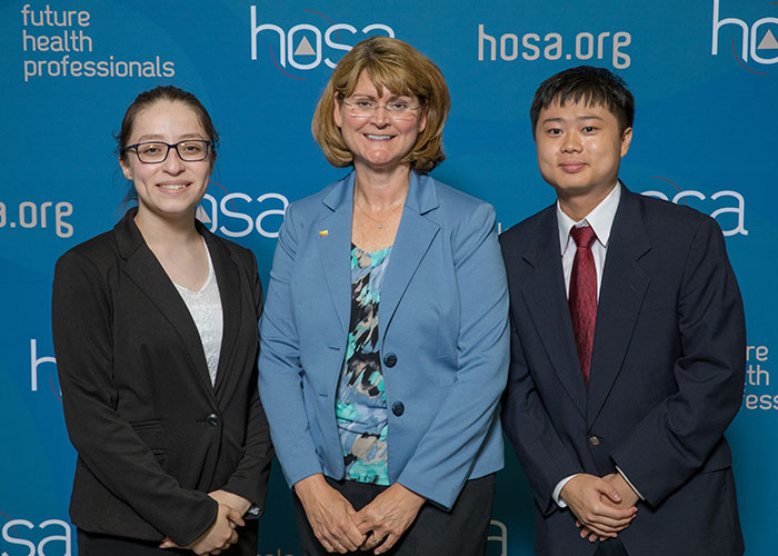 HOSA Advisors with students
